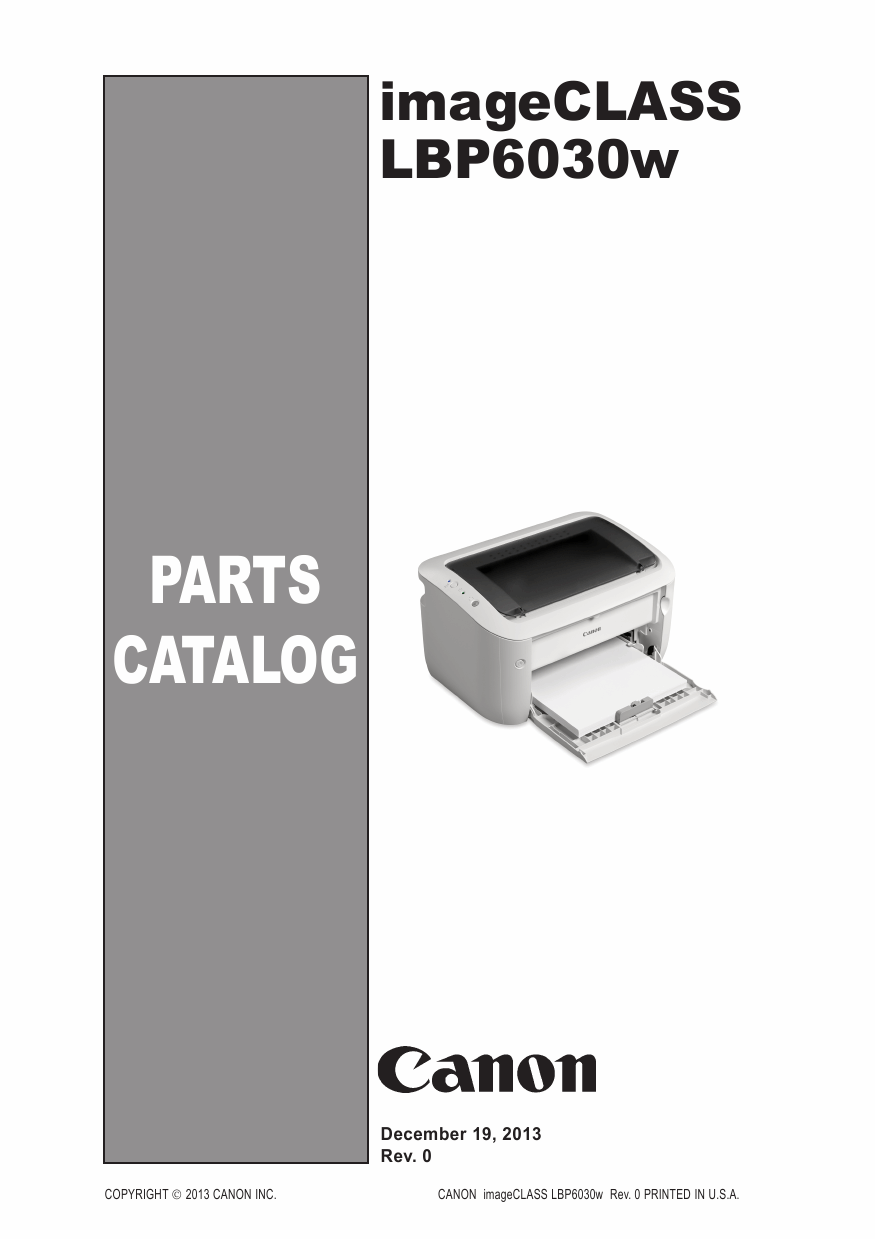 Canon imageCLASS LBP-6030w 6000 6018 6020 6030 Parts Catalog Manual-1